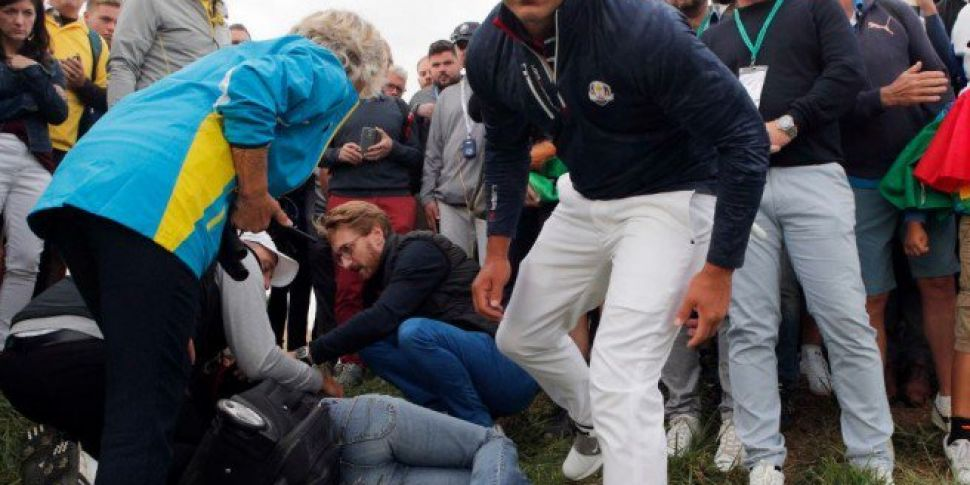 Young Girl Hit In The Face At Ryder Cup