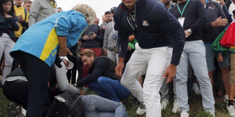 """Spectator left """"blind in one eye"""" after being hit by golf ball at Ryder Cup"""