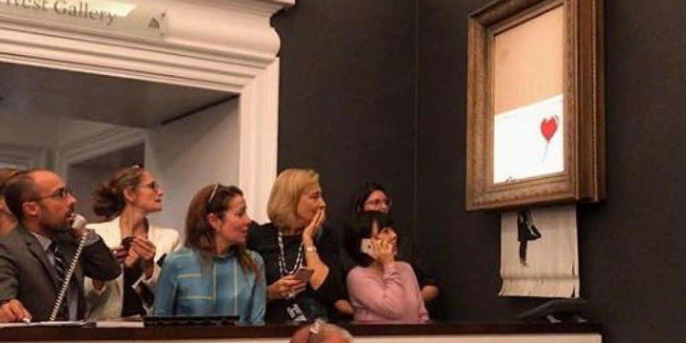 Banksy Artwork Shreds Itself After Being Auctioned For Over €1 Million