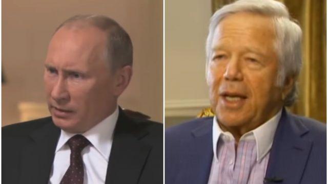 Patriots Owner Robert Kraft Says Vladimir Putin Stole His Super Bowl Ring Balls Ie
