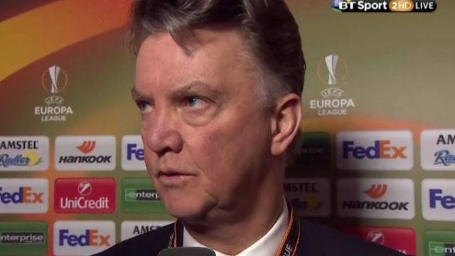 Watch: Louis Van Gaal's Strange Post Match Interview Will