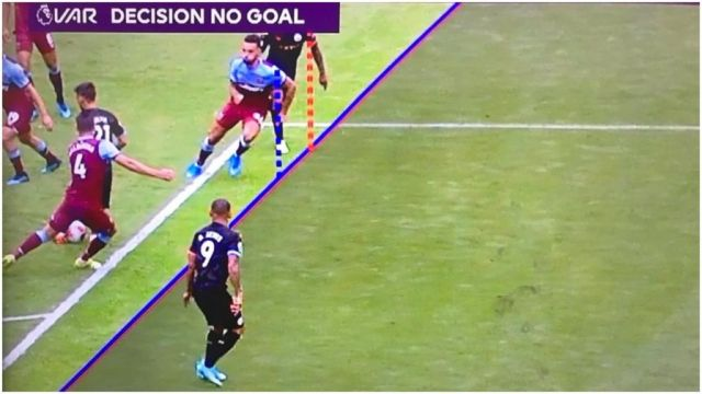 VAR rules out goal based on armpit.
