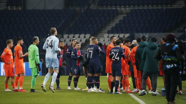 PSG And Istanbul Basaksehir To Finish Fixture Today Following Walk Off