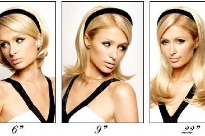 Coming Soon Paris Hiltons Velcro Stick On Hair Extensions Beaut