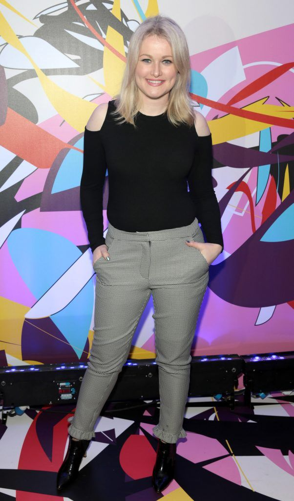 Lorna Weightman pictured at the launch of Outcider, Ireland's newest cider with designs by street artist, James Earley (Picture by Brian McEvoy).