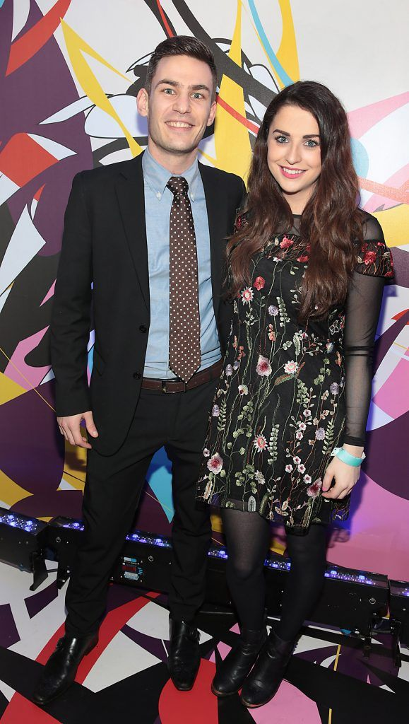 Pierre Waddington and Niamh Devereux  pictured at the launch of Outcider, Ireland's newest cider with designs by street artist, James Earley (Picture by Brian McEvoy).