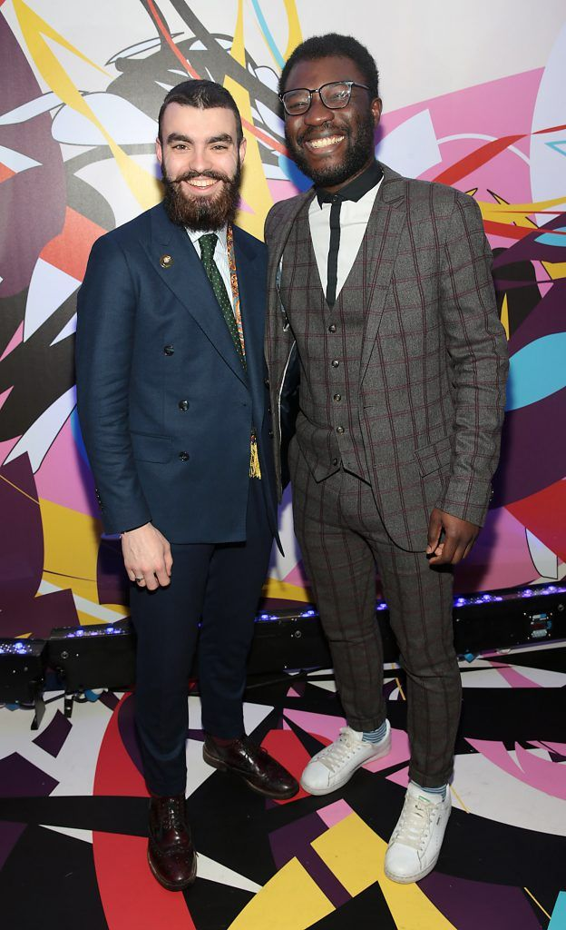 Jake McCabe and Timi Ogunyemi pictured at the launch of Outcider, Ireland's newest cider with designs by street artist, James Earley (Picture by Brian McEvoy).