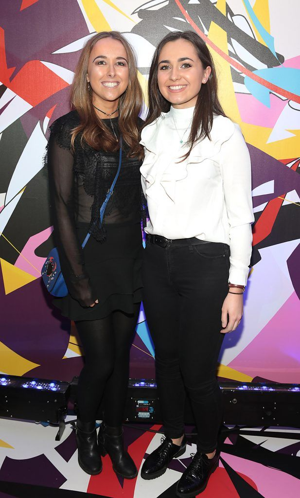 Suzie Booth and Ally Hayden pictured at the launch of Outcider, Ireland's newest cider with designs by street artist, James Earley (Picture by Brian McEvoy).