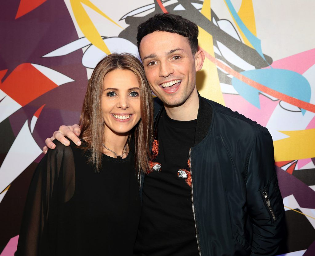 Jenny Greene and James Kavanagh pictured at the launch of Outcider, Ireland's newest cider with designs by street artist, James Earley (Picture by Brian McEvoy).