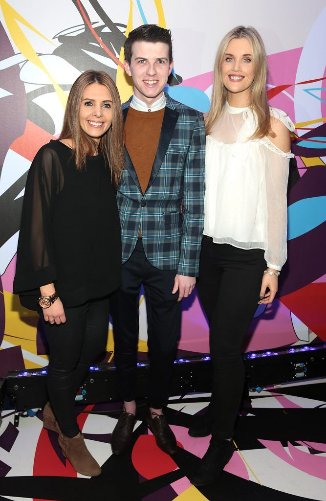Jenny Greene, Mikie O Loughlin and Megan Virgo pictured at the launch of Outcider, Ireland's newest cider with designs by street artist, James Earley (Picture by Brian McEvoy).