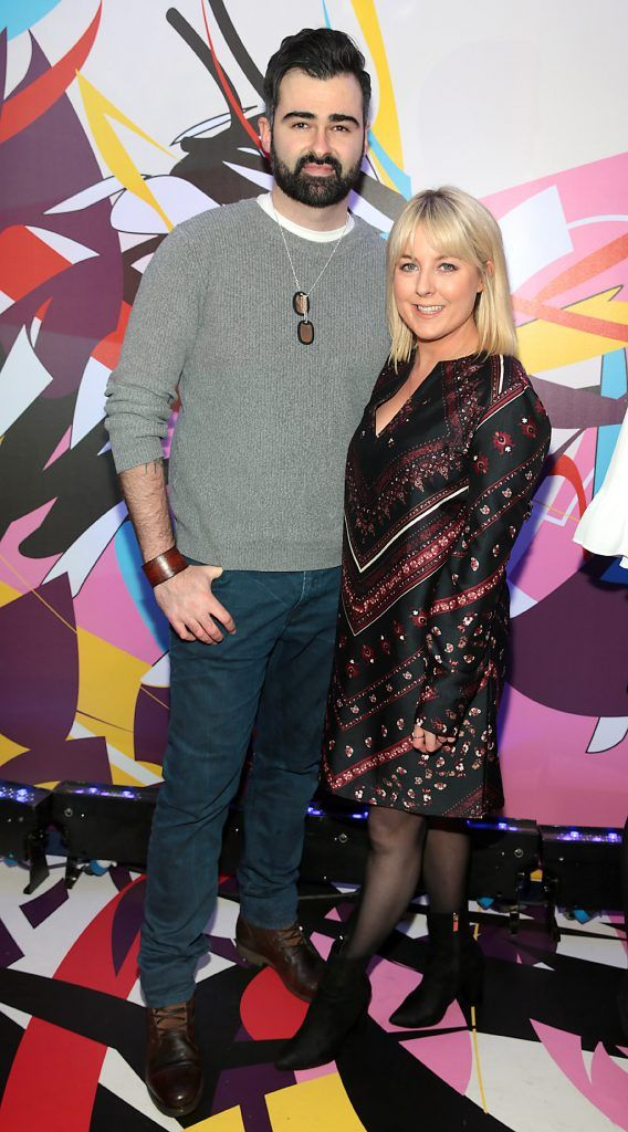 Eamon Curry and Rebecca Brady pictured at the launch of Outcider, Ireland's newest cider with designs by street artist, James Earley (Picture by Brian McEvoy).