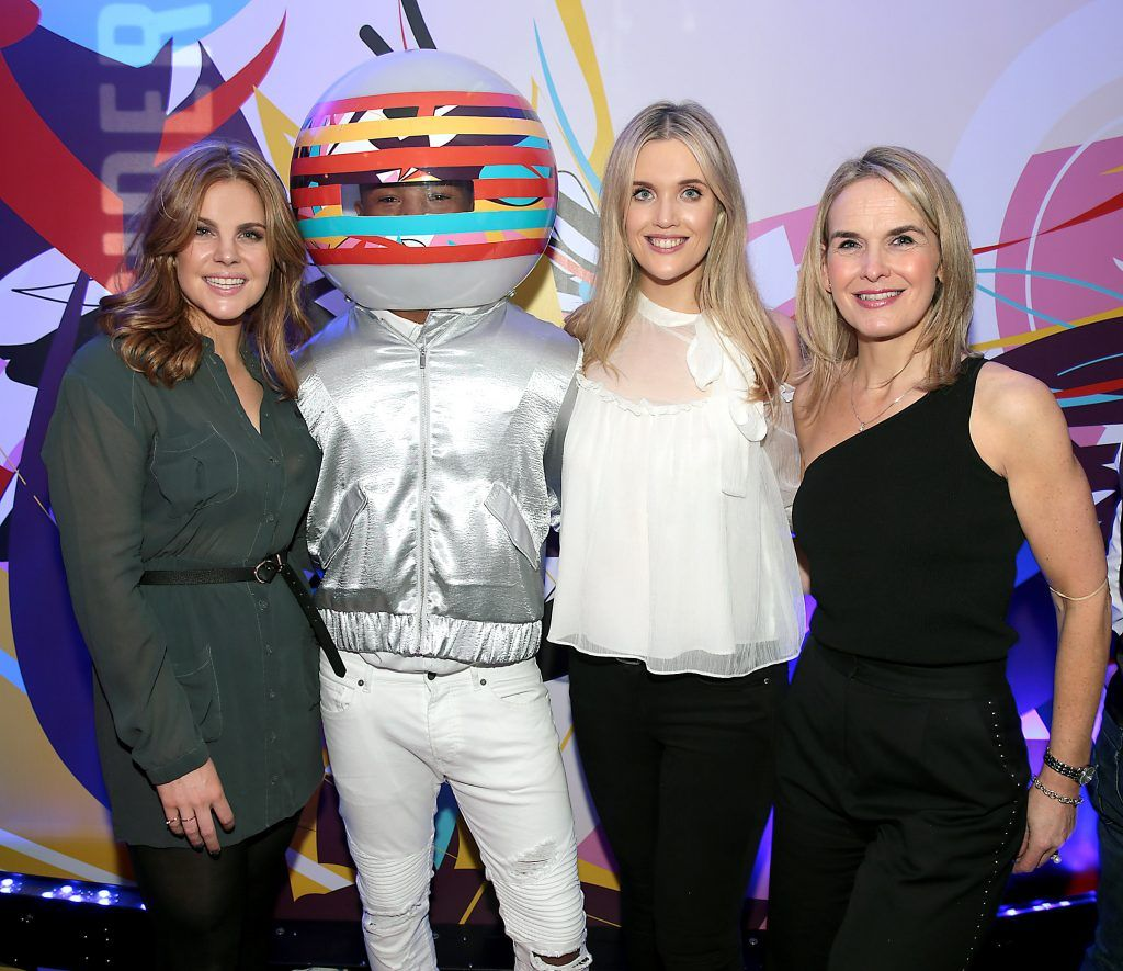 Rochelle Flett, Megan Virgo and Rachel Sherry  pictured at the launch of Outcider, Ireland's newest cider with designs by street artist, James Earley (Picture by Brian McEvoy).