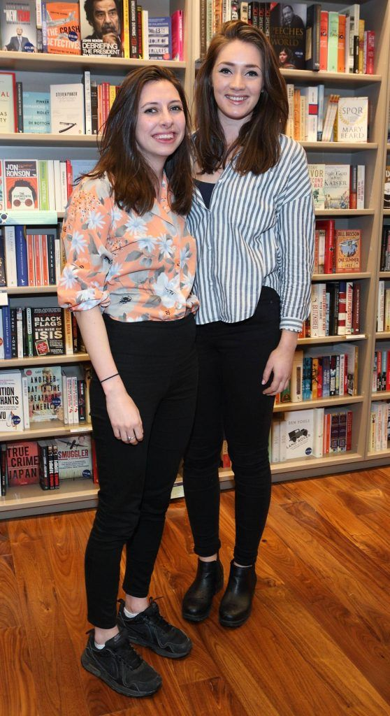 Georga Longhurst and Deirdre Scully at the launch of Ryan Tubridy's book 'Patrick and the President' Illustratred by PJ Lynch at Dubray Books in Grafton Street, Dublin (Picture by Brian McEvoy).