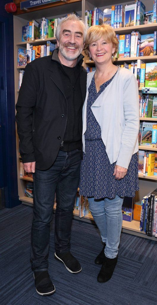 Patrick Delaney and Mary Delaney at the launch of Ryan Tubridy's book 'Patrick and the President' Illustratred by PJ Lynch at Dubray Books in Grafton Street, Dublin (Picture by Brian McEvoy).