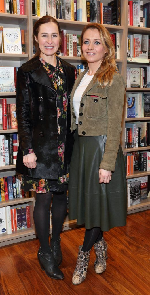 Criona Sexton and Sharon Brady at the launch of Ryan Tubridy's book 'Patrick and the President' Illustratred by PJ Lynch at Dubray Books in Grafton Street, Dublin (Picture by Brian McEvoy).