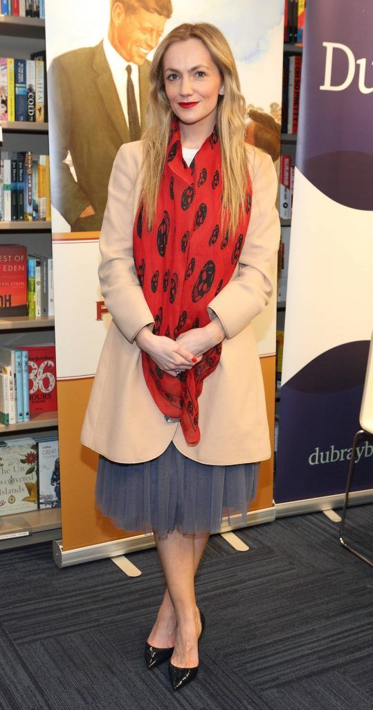 Erica Flanagan at the launch of Ryan Tubridy's book 'Patrick and the President' Illustratred by PJ Lynch at Dubray Books in Grafton Street, Dublin (Picture by Brian McEvoy).