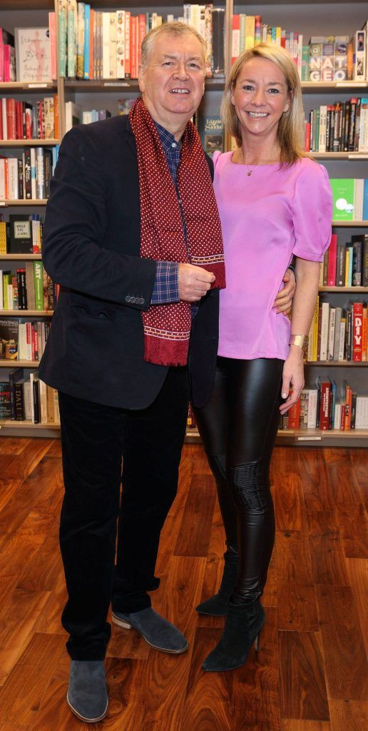 Joe Duffy and Rachel Tubridy at the launch of Ryan Tubridy's book 'Patrick and the President' Illustratred by PJ Lynch at Dubray Books in Grafton Street, Dublin (Picture by Brian McEvoy).