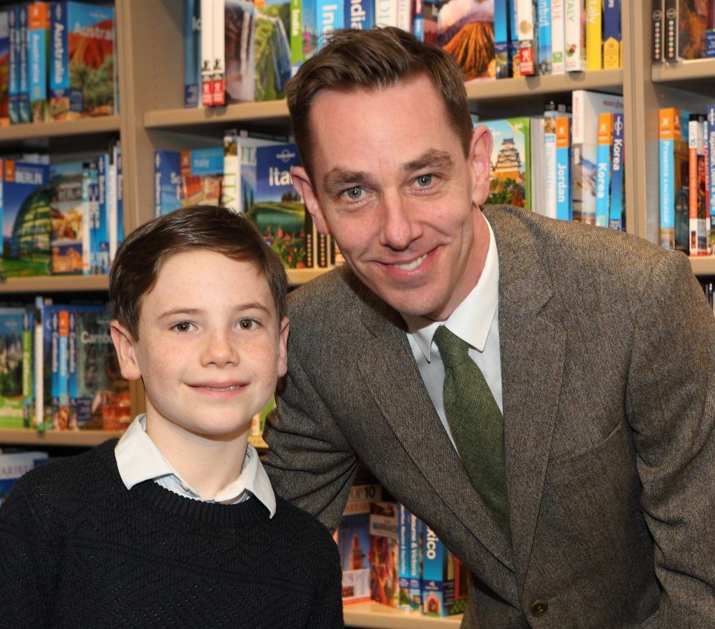 Patrick Kelly and Ryan Tubridy at the launch of Ryan Tubridy's book 'Patrick and the President' Illustratred by PJ Lynch at Dubray Books in Grafton Street, Dublin (Picture by Brian McEvoy).