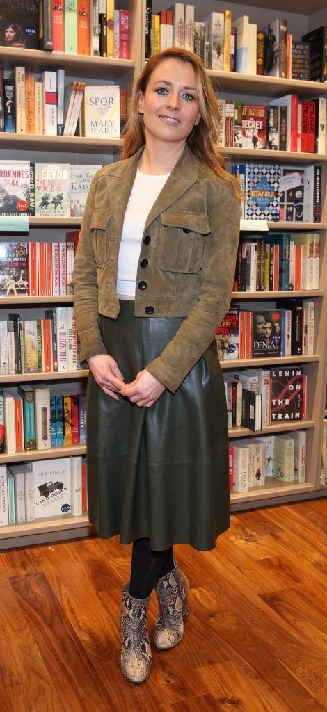 Sharon Brady at the launch of Ryan Tubridy's book 'Patrick and the President' Illustratred by PJ Lynch at Dubray Books in Grafton Street, Dublin (Picture by Brian McEvoy).