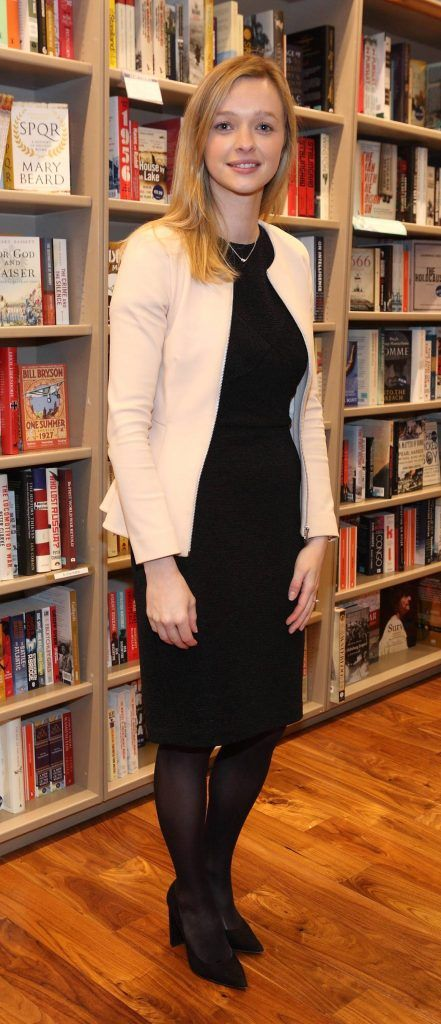 Laura McKeown at the launch of Ryan Tubridy's book 'Patrick and the President' Illustratred by PJ Lynch at Dubray Books in Grafton Street, Dublin (Picture by Brian McEvoy).