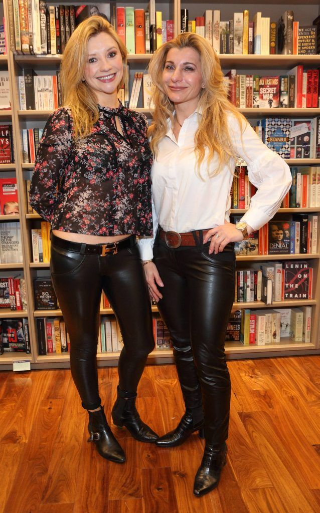 Marian Power and Krisztina Bolla at the launch of Ryan Tubridy's book 'Patrick and the President' Illustratred by PJ Lynch at Dubray Books in Grafton Street, Dublin (Picture by Brian McEvoy).