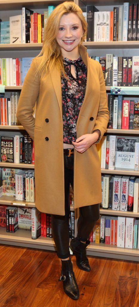 Marian Power at the launch of Ryan Tubridy's book 'Patrick and the President' Illustratred by PJ Lynch at Dubray Books in Grafton Street, Dublin (Picture by Brian McEvoy).