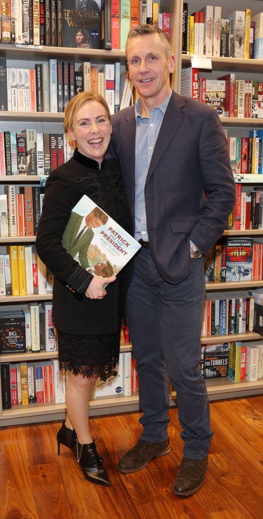 Sadhbh Ni Loingsigh and Dermot McCarthy at the launch of Ryan Tubridy's book 'Patrick and the President' Illustratred by PJ Lynch at Dubray Books in Grafton Street, Dublin (Picture by Brian McEvoy).