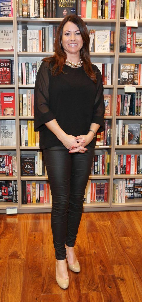 Sarah Solheim at the launch of Ryan Tubridy's book 'Patrick and the President' Illustratred by PJ Lynch at Dubray Books in Grafton Street, Dublin (Picture by Brian McEvoy).