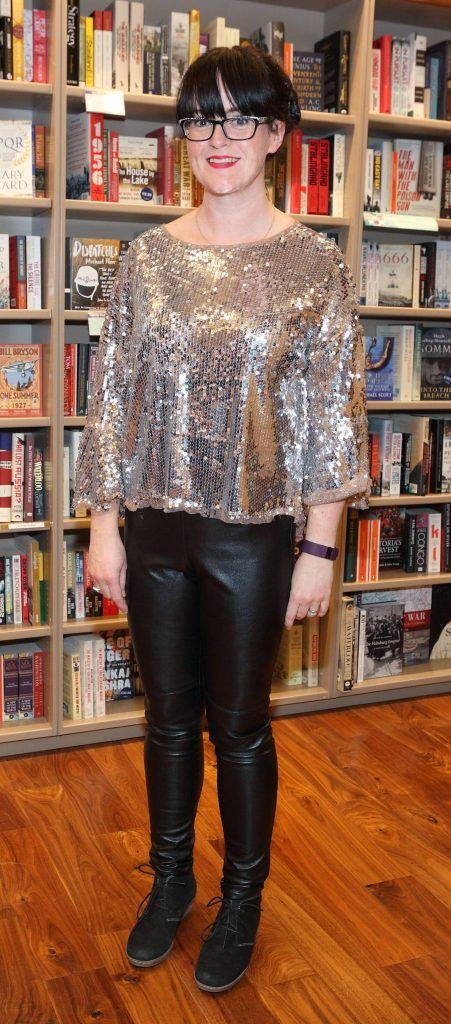 Orla McDermott at the launch of Ryan Tubridy's book 'Patrick and the President' Illustratred by PJ Lynch at Dubray Books in Grafton Street, Dublin (Picture by Brian McEvoy).