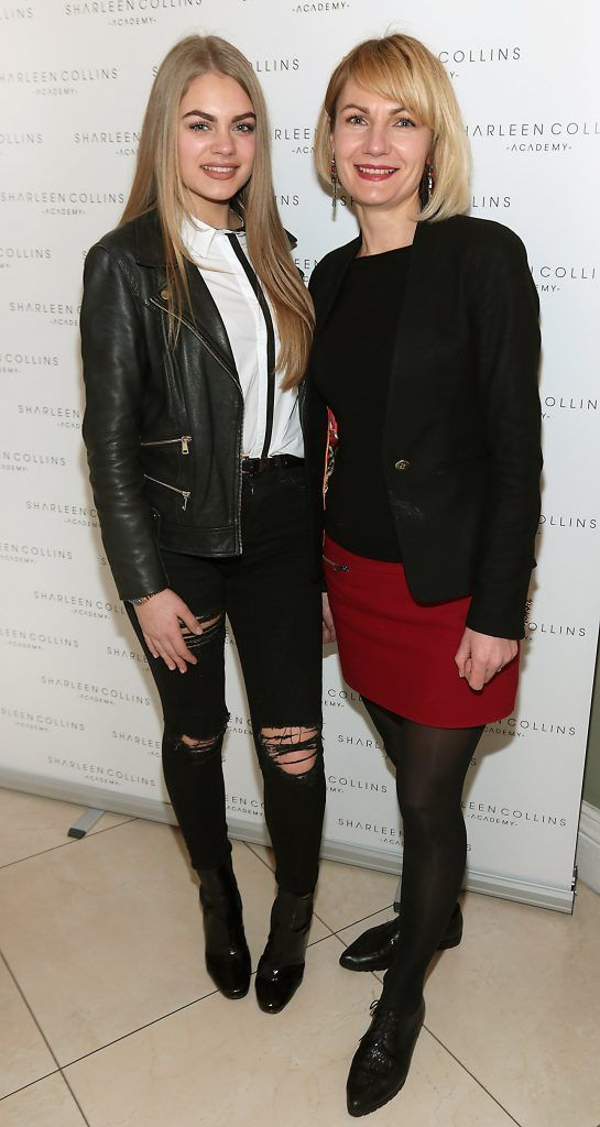 Emily Petrauskaite and Lilicja Petrausiere pictured at the launch of Sharleen Collins Make-Up Academy in Leeson Street, Dublin (Picture: Brian McEvoy).