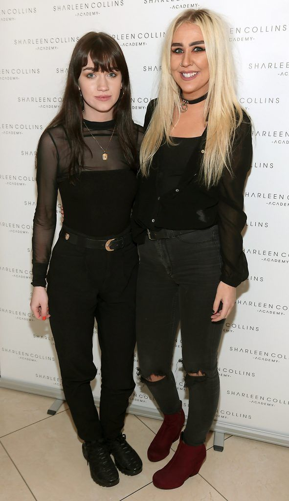 Eimear Lynch and Naomi Rooney pictured at the launch of Sharleen Collins Make-Up Academy in Leeson Street, Dublin (Picture: Brian McEvoy).