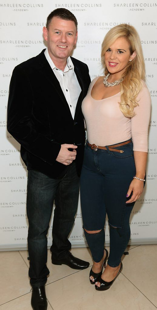 Robbie Kane and Claire Craig pictured at the launch of Sharleen Collins Make-Up Academy in Leeson Street, Dublin (Picture: Brian McEvoy).