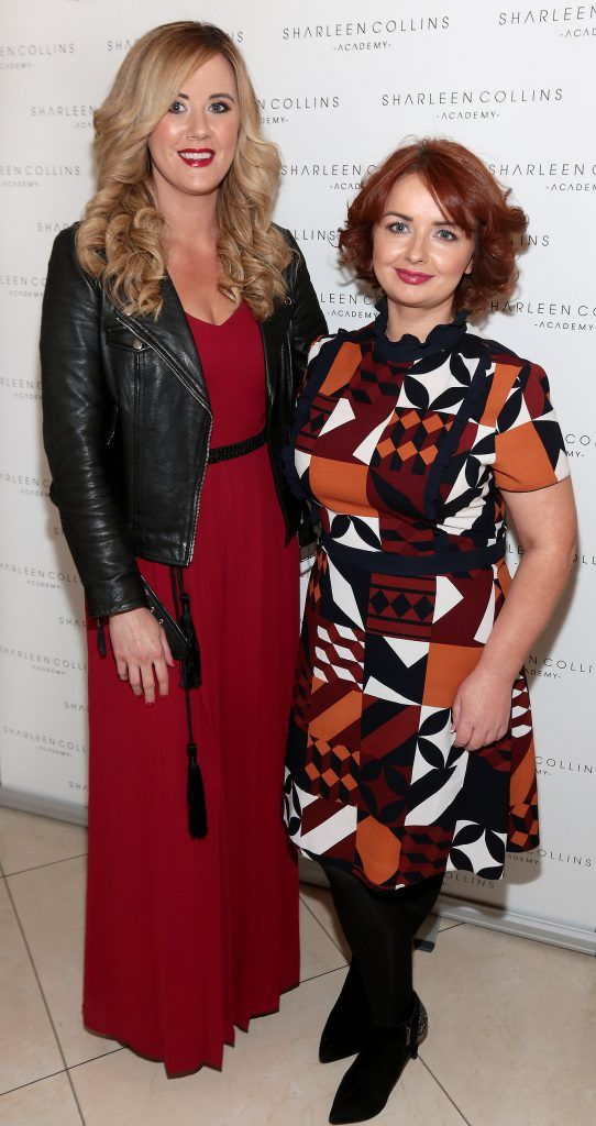 Linda Stinson and Lisa McDermott pictured at the launch of Sharleen Collins Make-Up Academy in Leeson Street, Dublin (Picture: Brian McEvoy).