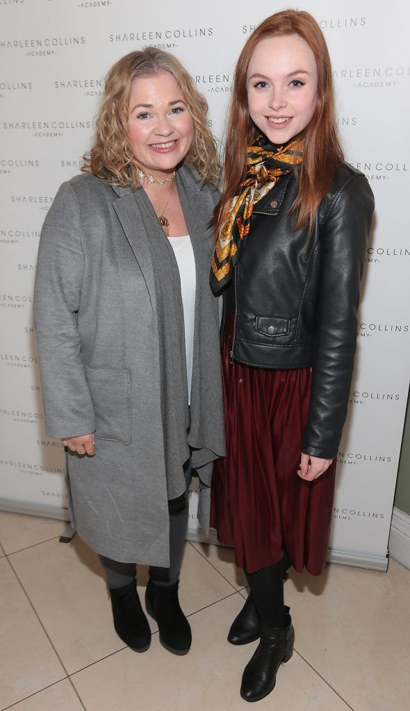 Siobhan Leonard and Megan Bea Tiernan pictured at the launch of Sharleen Collins Make-Up Academy in Leeson Street, Dublin (Picture: Brian McEvoy).