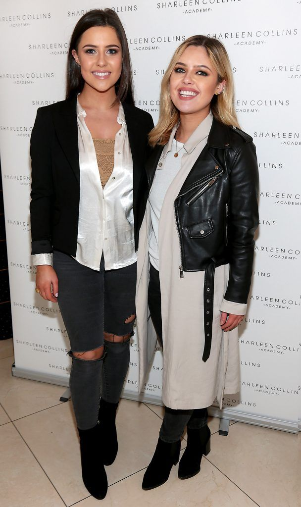 Babette Ryan and Bonnie Ryan pictured at the launch of Sharleen Collins Make-Up Academy in Leeson Street, Dublin (Picture: Brian McEvoy).