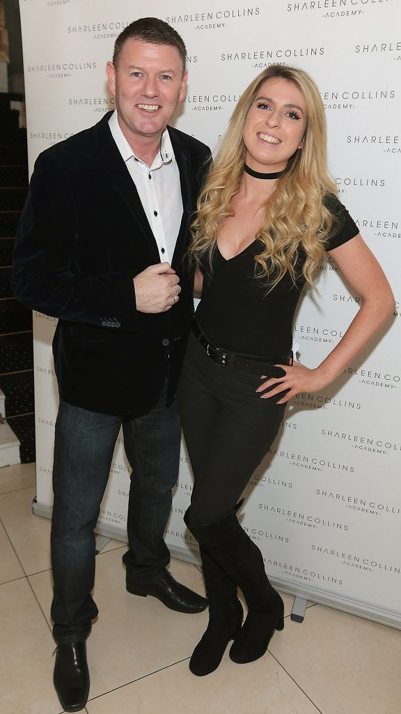 Robbie Kane and Niamh Morgan pictured at the launch of Sharleen Collins Make-Up Academy in Leeson Street, Dublin (Picture: Brian McEvoy).