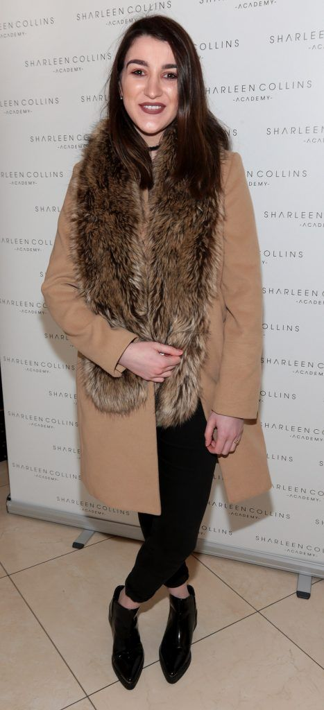 Jade Shields pictured at the launch of Sharleen Collins Make-Up Academy in Leeson Street, Dublin (Picture: Brian McEvoy).
