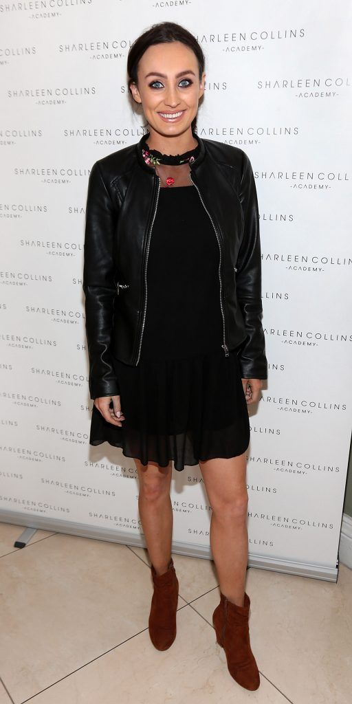 Sinead De Buitlear pictured at the launch of Sharleen Collins Make-Up Academy in Leeson Street, Dublin (Picture: Brian McEvoy).