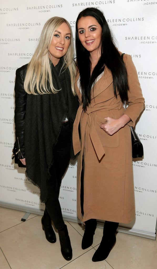 Leanne Kavanagh and Lisa Howard pictured at the launch of Sharleen Collins Make-Up Academy in Leeson Street, Dublin (Picture: Brian McEvoy).