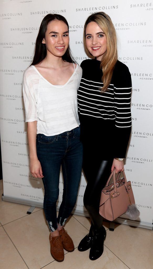 Meiling Tong and Lorna Duffy pictured at the launch of Sharleen Collins Make-Up Academy in Leeson Street, Dublin (Picture: Brian McEvoy).