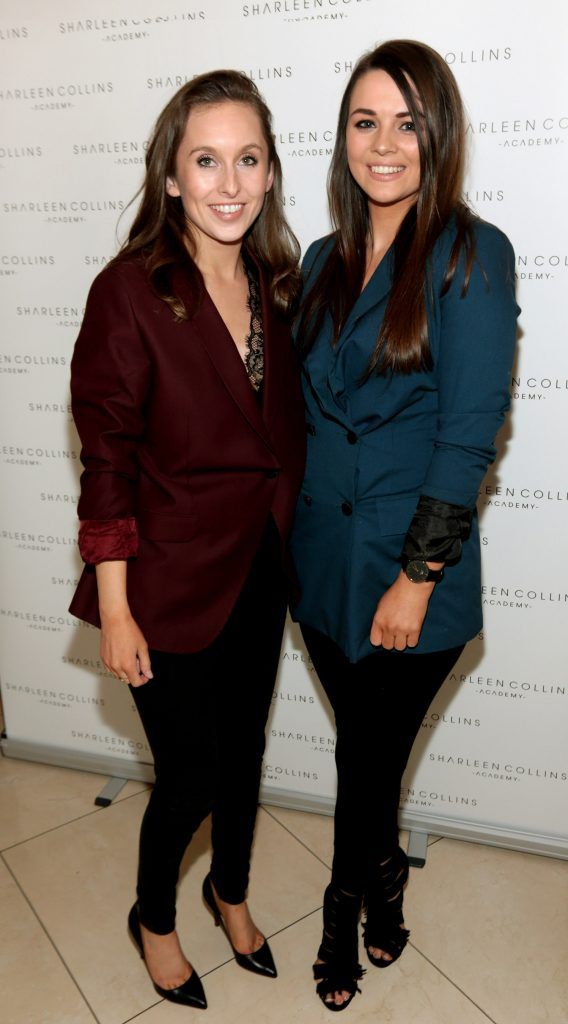 Maeve Kelly and Amanda Davitt pictured at the launch of Sharleen Collins Make-Up Academy in Leeson Street, Dublin (Picture: Brian McEvoy).