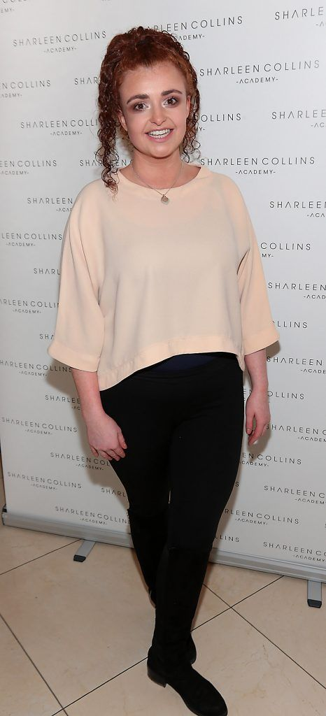 Jessie Breen pictured at the launch of Sharleen Collins Make-Up Academy in Leeson Street, Dublin (Picture: Brian McEvoy).