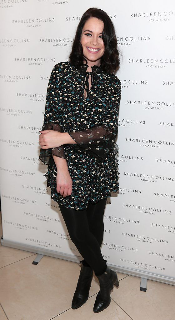 Michelle McGrath pictured at the launch of Sharleen Collins Make-Up Academy in Leeson Street, Dublin (Picture: Brian McEvoy).