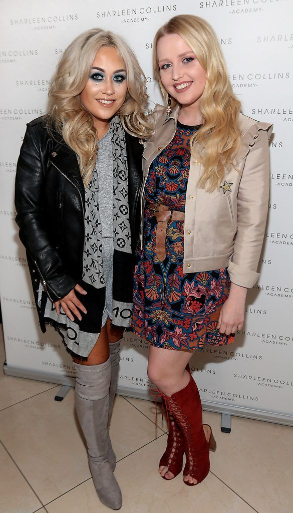 Jade Mullett and Laura Mullett pictured at the launch of Sharleen Collins Make-Up Academy in Leeson Street, Dublin (Picture: Brian McEvoy).