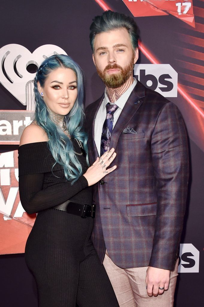 Internet personality Kristen Leanne (L) and Ryan Morgan attend the 2017 iHeartRadio Music Awards which broadcast live on Turner's TBS, TNT, and truTV at The Forum on March 5, 2017 in Inglewood, California.  (Photo by Alberto E. Rodriguez/Getty Images)