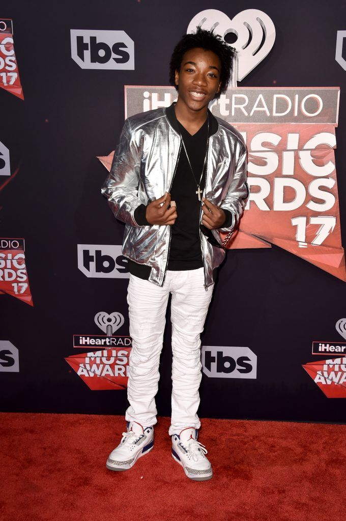 Actor Jaheem Toombs attends the 2017 iHeartRadio Music Awards which broadcast live on Turner's TBS, TNT, and truTV at The Forum on March 5, 2017 in Inglewood, California.  (Photo by Alberto E. Rodriguez/Getty Images)