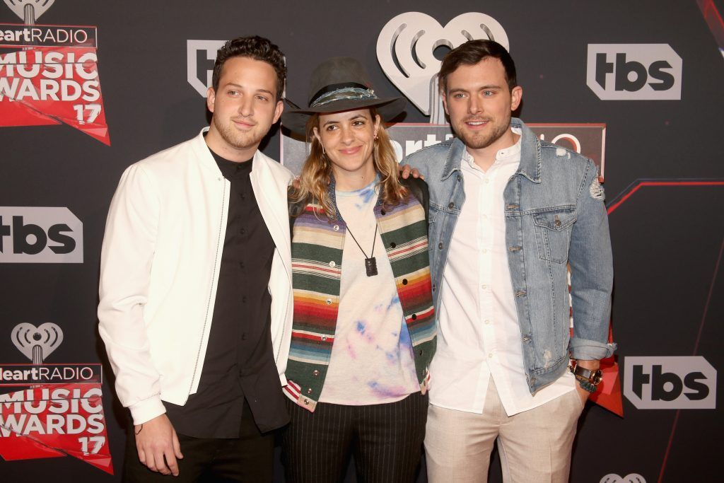 Recording artists Pete Nappi, Samantha Ronson, and Ethan Thompson of music group Ocean Park Standoff attend the 2017 iHeartRadio Music Awards which broadcast live on Turner's TBS, TNT, and truTV at The Forum on March 5, 2017 in Inglewood, California.  (Photo by Jesse Grant/Getty Images for iHeartMedia)