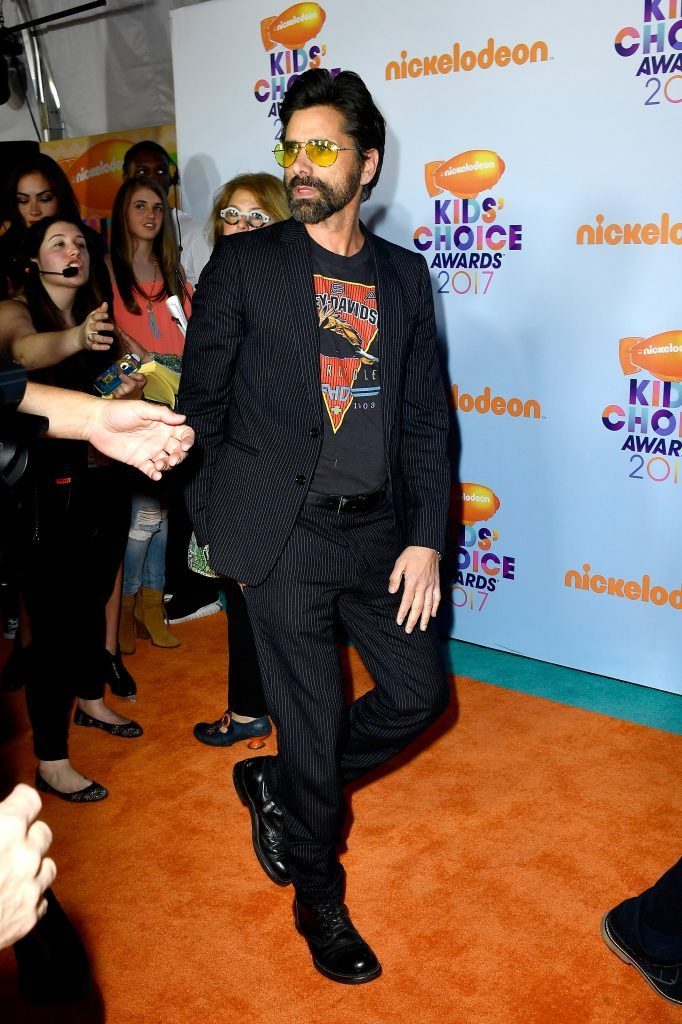 Actor John Stamos at Nickelodeon's 2017 Kids' Choice Awards at USC Galen Center on March 11, 2017 in Los Angeles, California.  (Photo by Frazer Harrison/Getty Images)