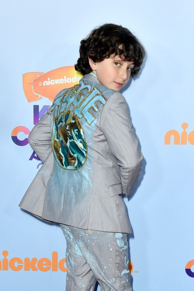 Actor August Maturo at Nickelodeon's 2017 Kids' Choice Awards at USC Galen Center on March 11, 2017 in Los Angeles, California.  (Photo by Frazer Harrison/Getty Images)