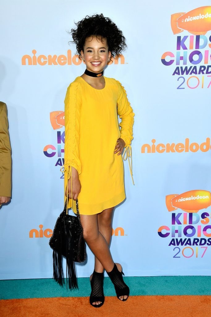 Actor Sofia Wylie at Nickelodeon's 2017 Kids' Choice Awards at USC Galen Center on March 11, 2017 in Los Angeles, California.  (Photo by Frazer Harrison/Getty Images)
